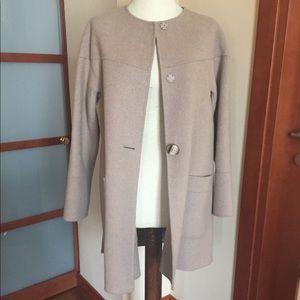 Zara Beige Handmade Coat size XS